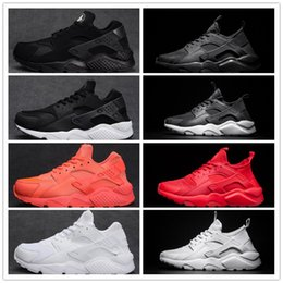 Wholesale Canvas Shoes For Men - Air Huarache Ultra running shoes Triple white black Huraches Running trainers for men & women outdoors shoes Huaraches sneakers Hurache