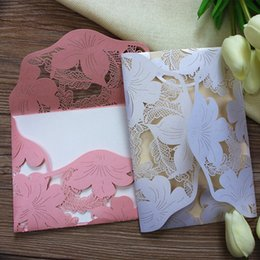Wholesale Laser Cut Wedding Invitations Wholesale - Laser Cut Wed Invitation Rustic Marriage Invitation Cards luxury wedding paper card valentine postcard free shipping