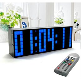 timer remoto digitale Sconti All'ingrosso- Digital Large Big Jumbo LED Alarm Clock Remote Control Countdown Timer Snooze