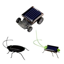 Wholesale Energy Cars - Wholesale- 1pc Mini Kit Novelty Kid Solar Energy Powered Car Cockroach Power Robot Bug Grasshopper Educational Gadget Toy For Children