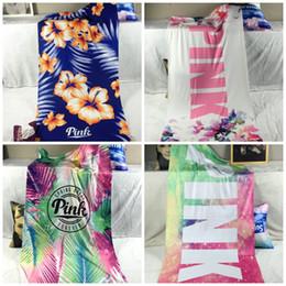 Wholesale Pink Bathrooms - Pink Beach Towel 2017 New Fitness Sport Beach Bath Towel Leopard Flower Swimwear Bathroom Towels 6 Colors 4 Sizes OPP Package X8