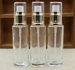 aluminiumrohre flaschen großhandel Rabatt Transparenter Glasparfüm-Zerstäuber leerer kleiner Sprühflasche 50ml 30ml reiner Tau Feuchtigkeitscreme-Wasserbehälter