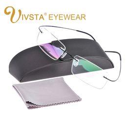titan rimless brille großhandel Rabatt Großhandel mit original case titanium brille männer marke logo randlose eyewear frauen optische rahmen verschreibung e1050 silhouett shile
