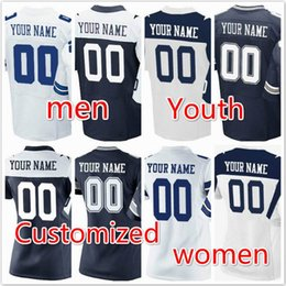 Wholesale Custom Elite Football Jerseys - cheap customized shirt Personalized elite Game Football Jersey custom for Limited Men women youthkids any Name Number