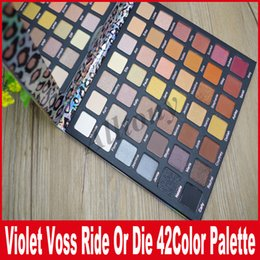 Wholesale Leopard Eyeshadow - Leopard Violet Voss RIDE OR DIE EYESHADOW PALETTE Limited Edition With Different 42 Colors Free Shipping