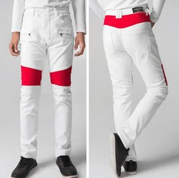 Wholesale Button Fly Men S Jeans - 2017 brand men's straight tearing, high quality jeans, bike jeans, fashion designer pants, slim pants, free shipping