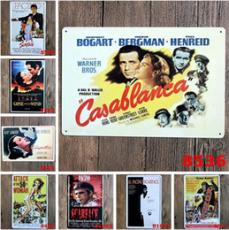 Wholesale Movie Tin Signs Wholesale - 2017 fashion 20*30cm classic vintage movie film poster tin sign Coffee Shop Bar Restaurant Wall Art decoration Bar Metal Paintings