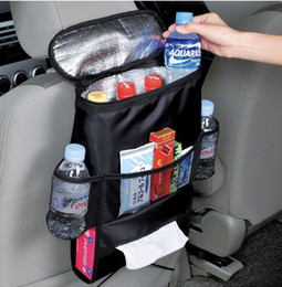 Wholesale Automotive Organizers - Wholesale-Multifunction Automotive Chair Organizer Mum Bag Oxford Waterproof Baby Bottle Thermal Bag Cooler Bag with Tissue Boxes