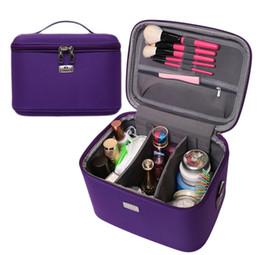 Wholesale Large Black Makeup Cases - fashion 2017 Makeup Organizer Waterproof Makeup Bag Travel Organizer Cosmetic Box for Women Large Necessaries Make Up Case Wash Toiletry Bag