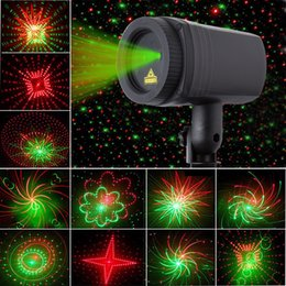 Wholesale Laser Effects Star - Christmas Laser Projector 12 in1 Patterns Star Lights Showers Effect RF Remote Motion Waterproof IP65 Outdoor Garden Decorative Lamp