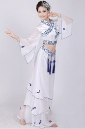 Wholesale Modern Chinese Porcelain - Blue and white porcelain national performance dress dance performance suite classical modern stage clothes