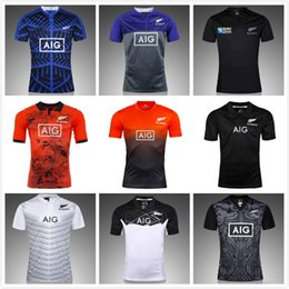 Wholesale Top Men Shirt Shipping - Free shipping !2017 new All Black new zealand home rugby Jerseys top Thailand quality rugby shirts men euro size S-3XL