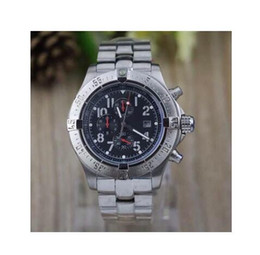 Wholesale Diving Belt - Luxury brand Mens white Date Quartz seawolf stainless steel Sport Chronograph Watch Men rubber belt Dive Wristwatch C18