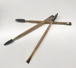 Wholesale Professional Eyebrow Shaping Tools - 20pcs Tarte Cosmetics Shape Shifter Double-Ended Bamboo Brow Brush Professional Makeup tools eyebrow brush + eyebrow comb make up brush