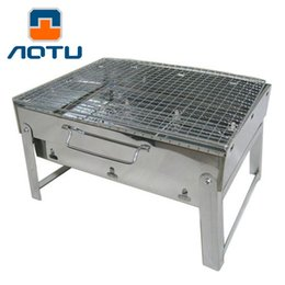 Wholesale Bbq Grill Stove - Large Stainless Steel Light Weight Folding Outdoor Barbecue Stove Camping Fishing Hiking BBQ Grill Backpacking BBQ Grill 192