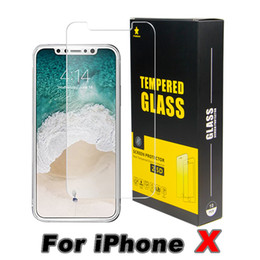 Wholesale Glass Screen Iphone Tempered - For Iphone 8 Plus iPhone X 7 Plus TopQuality BestPrice Tempered Glass Screen Protector 0.2MM 2.5D Ship Out Within 1 Day