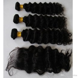 Wholesale Chinese Processed Remy Hair - 3 Bundles Brazilian Deep Curly Virgin Hair Unprocessed Brazilian Virgin Hair Deep Curly Remy Brazillian Peruvian Human Hair Weave