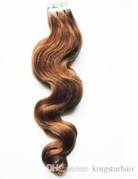 """Wholesale Blonde Glue Hair Extensions - Wholesale Price 18""""-24"""" 100g 40pcs Glue Skin Weft PU Tape In Human Hair Tape Indian Remy Human Hair Extensions"""