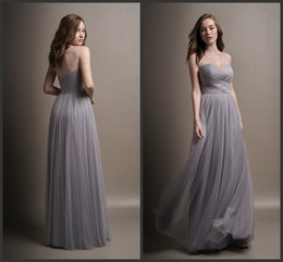 Wholesale Modest Junior Formal Gowns - Zipper Back Formal Bridesmaid Gown Long Sweetheart Neck 2017 Modest Vintage Beautiful High Quality Cheap Price Elegant Floor Length Sexy