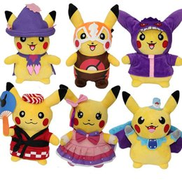 meilleurs cadeaux d'anniversaire Promotion Nouveau 6 styles mignon Pikachu En Peluche Jouet Animaux Muppet jouets Enfants Meilleur Cadeau D'anniversaire Jouet IA723