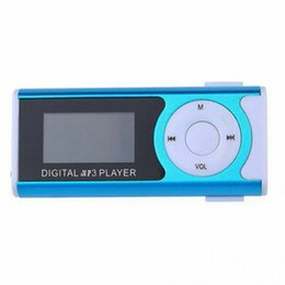 Wholesale Usb Micro Sd Metal Reader - New LCD Screen Metal Mini Clip MP3 Player with Micro TF SD Slot with Earphone and USB Cable Portable MP3 Music Players
