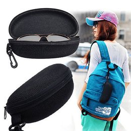 Wholesale Wholesale Lense Glasses - Universal Sunglasses Lense Storage Organizer Holder Box Compression Eyeglass Case Para Glasses Eyewear Box Cover Zipper Hook Bag YYA198