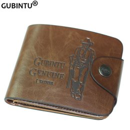 Wholesale Hunter Sports - Popular Style Vintage Hunter Print PurseLeather Men Wallet with 7 Card Slots F239-1