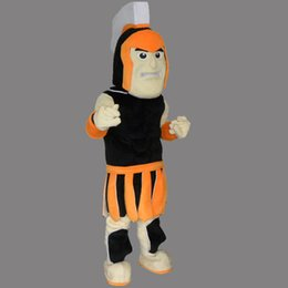 Wholesale deluxe mascot - Deluxe English Knight Warrior Adult Size Mascot Costume Fancy Birthday Party Dress Halloween Carnivals Costumes With High Quality