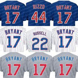 Wholesale Cheap Authentic Cool Base Jersey - #17 Kris Bryant Alternate Blue Jersey Cheap Baseball Jerseys #44 Anthony Rizzo Authentic Baseball Cool base Jerseys