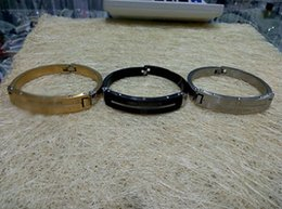 Wholesale European Snap Clasps - Free Shipping-European popular French Stainless steel MB bracelet Displays man's charm