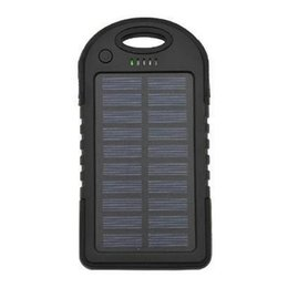 Wholesale Cheap Portable Charger For Iphone - 5000mAh Portable Ultra Thin Solar Power Bank Waterproof Dual USB Solar Charger for iPhone Android Cellphones Wholesale Cheap DHL Fast.
