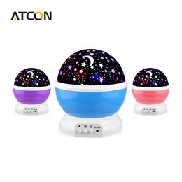 Wholesale Kids Star Projector - Wholesale- Dream Rotating Projection lamp Romantic LED Night light Sky Moon Star Master Projector USB 5V Decor Kids Baby Sleep lighting