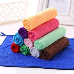 Wholesale Christmas Compressed Towel - 30x30cm Quick Dry Soft Absorbent Microfiber Wash Cloth Car Auto Care Microfiber Cleaning Towels Kitchen Cleaning Towel For Christmas