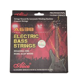 Wholesale Alice Strings - Alice electric bass string A638M steel bass strings nickelsteel string light electric bass strings 045-105 inch