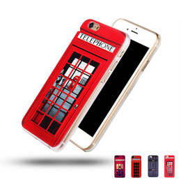 Wholesale Old Case Cover - For iPhone SE 5s 6 6s Plus 7 7P Hard Phone Cases London Old Fashion Telephone Booth Sherlock Holmes PC Painting Back Cover