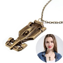 Wholesale Pendant Scarf Slides - Newest Arrival Car Racing Pendant Necklace Scarf Sweater Jewelry Autumn and Winter Punk Style Retro Necklace Women Girl Best Gifts Wholesale