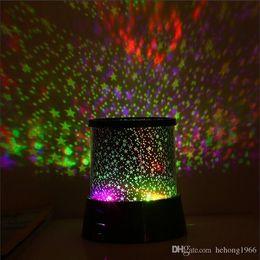 2019 lampada di notte del sonno del bambino Colorful Nightlike Dreamlike LED Sky Star Master Lights Proiettore Sleep Lamp per i bambini Bambini Baby Desk Table Decor 3 7ms R sconti lampada di notte del sonno del bambino