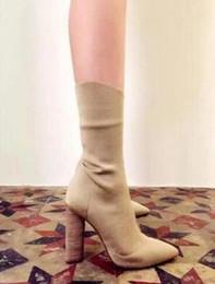 Sandales gladiateur mi-mollet en Ligne-hiver sandales de gladiateur bottes mi veau bottillons punk style femmes couleur unie toe bota bottes de talon épais femmes