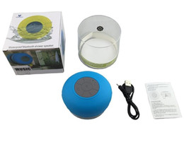 Wholesale Water Proof Mp3 Speakers - Water Proof Bluetooth Speaker Mini Water Resistant Wireless Shower Suction Speaker Handsfree Portable Speakerphone with Built-in Mic