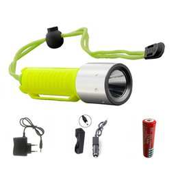 Wholesale Underwater Hunting - New LED flashlight 2000LM CREE T6 LED Waterproof underwater scuba Dive Diving Flashlight Torch light lamp for diving light