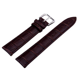 Wholesale Colour Strap Watches - Wholesale- Watch Accessories Watchband Watch Strap Pin buckle 12mm 14mm 16mm 18mm20mm22mm 24mm Genuine Leather strap Hot Sales Brown colour