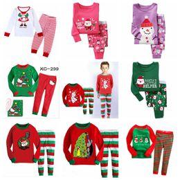 Wholesale Kids Tshirt Cotton Girl - Children sleepwear pajamas baby girls santa Christmas pajamas boys kids long sleeve tshirt + pants cotton pajamas 2-7 Years