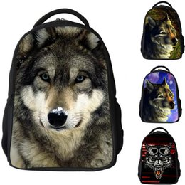 Wholesale Dinosaurs Bags - New 3D Animal Wolf Dinosaur Backpack Kindergarten Boys School Bag Bookbags Satchel Travel Shoulder Bags Rucksack knapsacks
