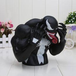 Wholesale Venom Figures - 17Cm Avengers Superhero Spider Man Venom Pvc Action Figure Toys Piggy Bank Save Money Box