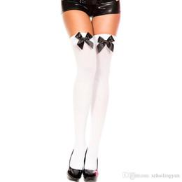 Canada 2016 nouveau style femmes sexy écolière coquine blanc / noir arc haut maid cuisse haut bas Offre