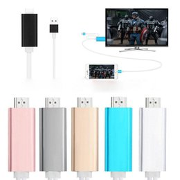Wholesale Tv Adapter Cables - Dock to HDMI HDTV TV Adapter USB Cable 1080P for iPhone 5 5s 6 6s 7 7s 8 8s plus HDMI Cable