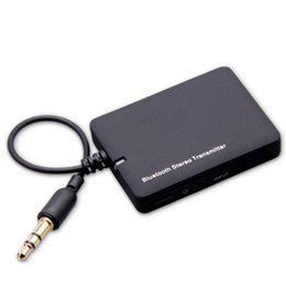 Wholesale Mini Tv Mp4 - High Quality Mini 3.5mm Bluetooth Audio Transmitter A2DP Stereo Dongle Adapter for TV Mp3 Mp4 PC Bluetooth Audio Music Receiver