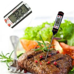 Termómetros portátiles online-Nuevo termómetro de la sonda de la comida de la cocina Carne Cocina BBQ Termómetro del sensor seleccionable Termómetro portátil de la hornada de Digitaces IA974
