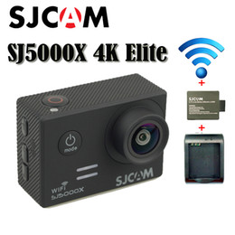 Wholesale Original Mini Sd Card - New Original SJCAM SJ5000X 4K Elite Edition Sport camera HD DV 2.0 LCD Diving 30m Waterproof Helmet Action Camera Free Shipping(Black)