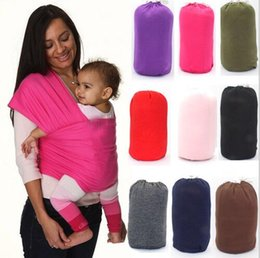 Wholesale Multifunctional Sling - Multifunctional Infant Breastfeed Sling Baby Stretchy Wrap Carrier Breastfeeding Strollers Gallus Kid Breastfeeding Hipseat Backpack KKA1942